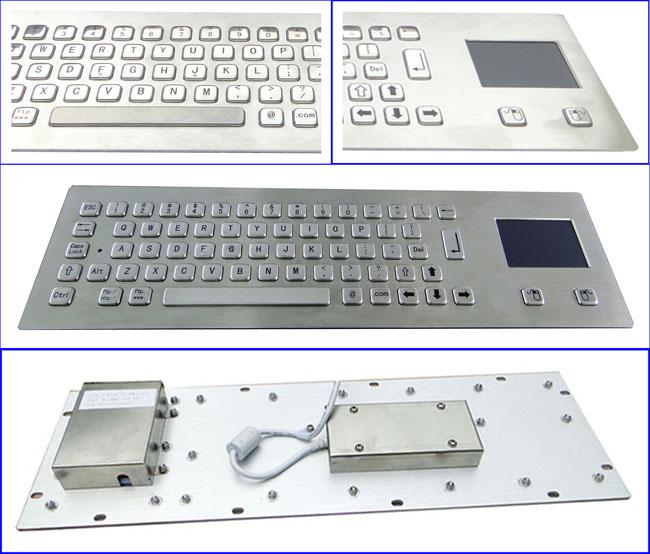 Teclado industrial com o Touchpad e as 64 chaves IP65 avaliados para o quiosque