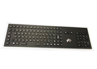Metal Industrial Keyboard With Trackball Full FN Keys Numeric Keypad LED Backlight